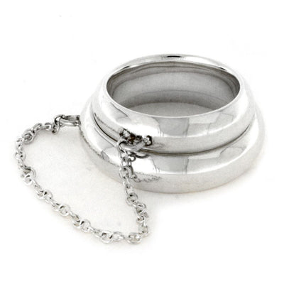 Sterling Silver Chain Rings, Two Fashion Knuckle Rings-2836 - Jewelry by Johan