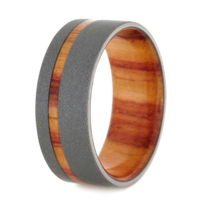 mens wedding band Tulip-Wood-Reverse-Sandblasted-Titanium-8-mm(3)