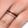 Natural Wood Wedding Band With Padauk & Maple Wood-2166 - Jewelry by Johan
