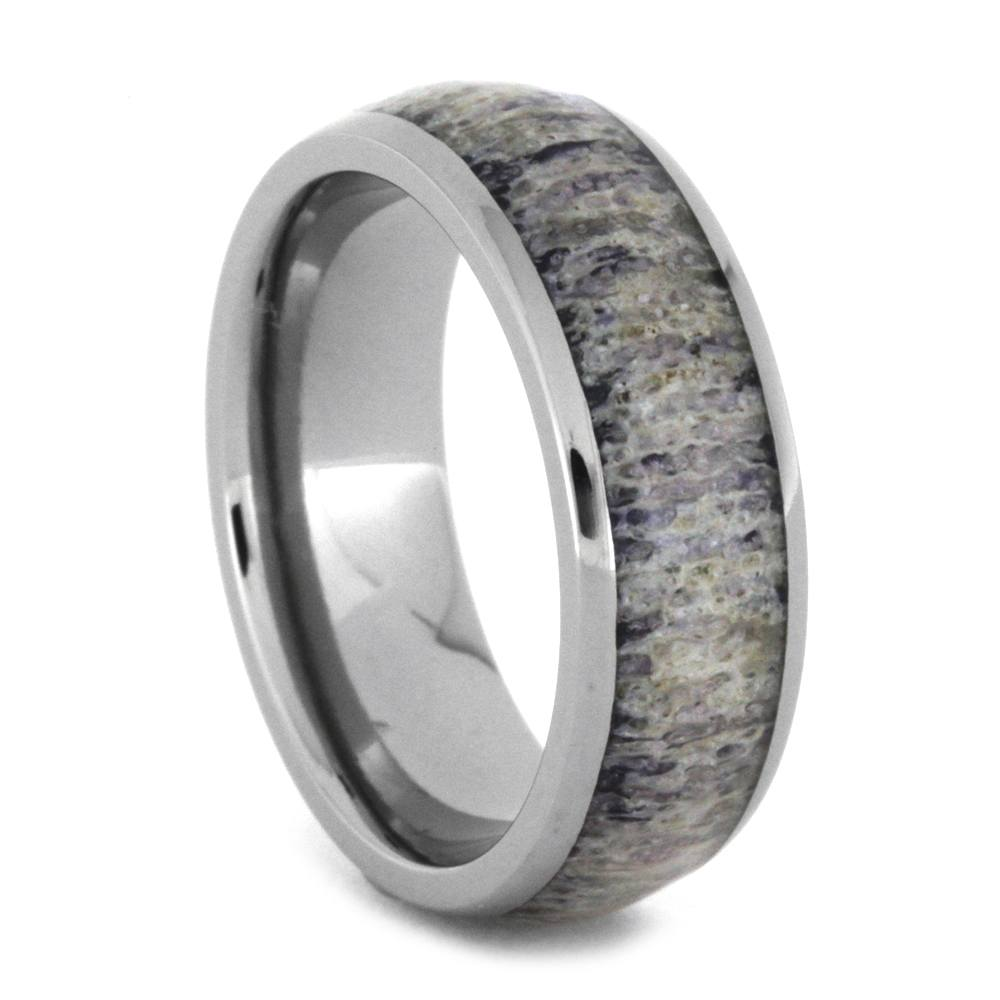 Purple Deer Antler Ring In Titanium, Size 7-RS8811 - Jewelry by Johan