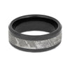 Meteorite Wedding Band With Black Finish