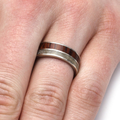 Rosewood Fossil Ring