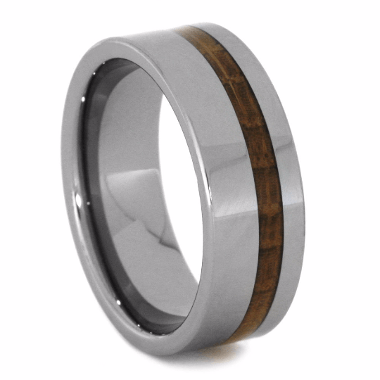 Tungsten Wedding Band with Whiskey Barrel Pinstripe, Size 9.5-RS10389 - Jewelry by Johan