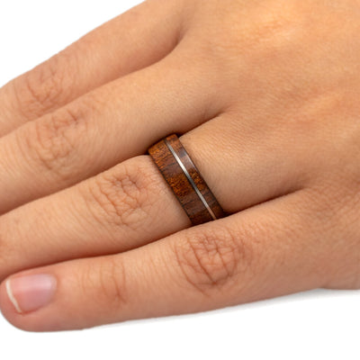 Koa Wood Ring with Matte Finish