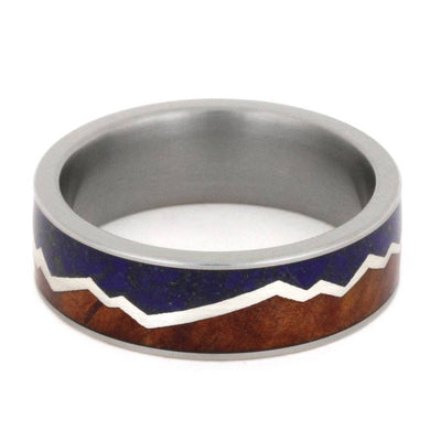 Mountain Range ring with Lapis Lazuli