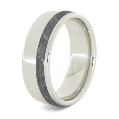 Gibeon Meteorite Wedding Band Platinum Ring For Men Jewelry by Johan