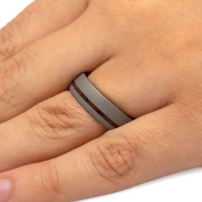 Sandblasted Wedding Band For Men