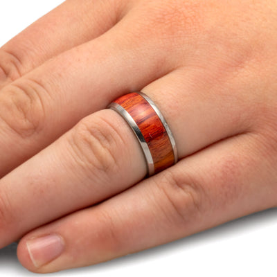 Handmade Tulipwood Wedding Band