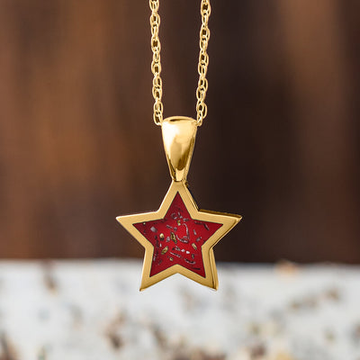 Yellow Gold Star Pendant Necklace