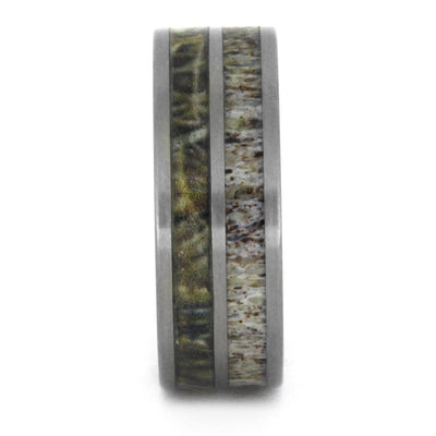 Camo And Antler Wedding Band