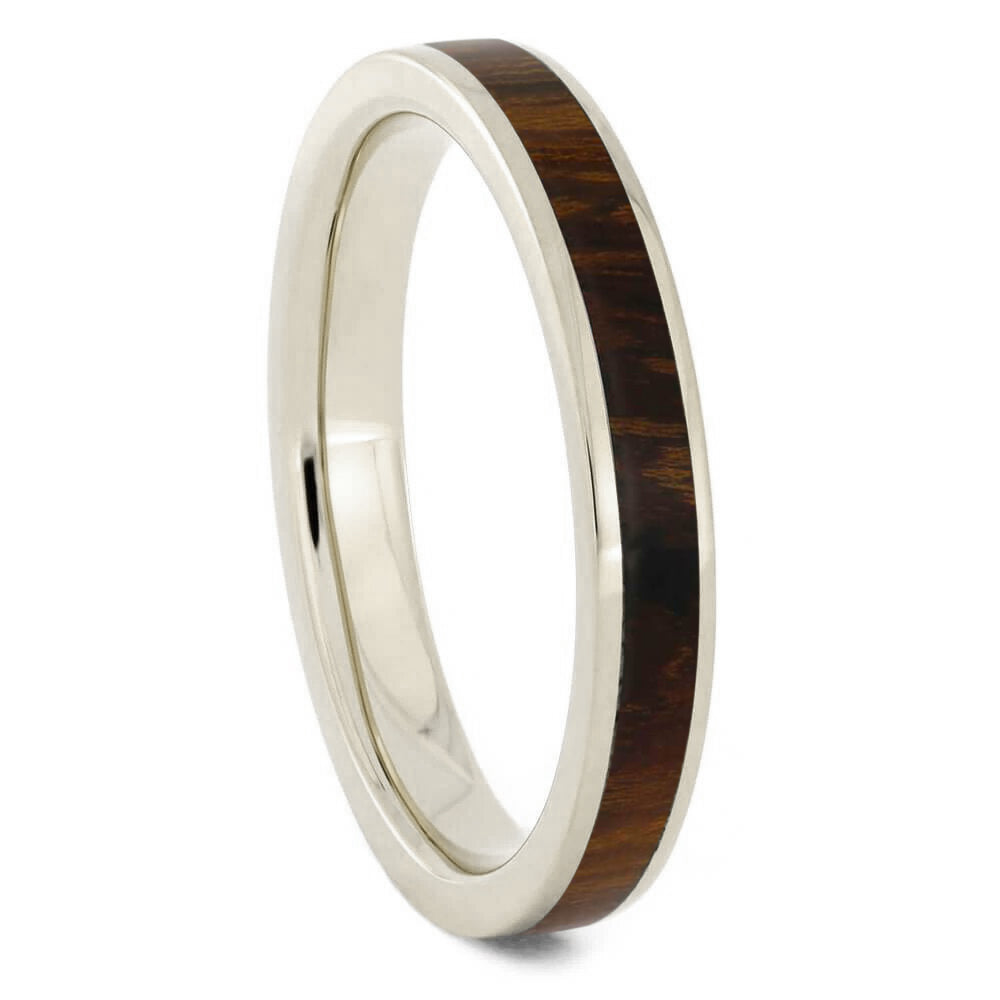Thin Ironwood Ring, White Gold Band For Women-3531 - Jewelry by Johan