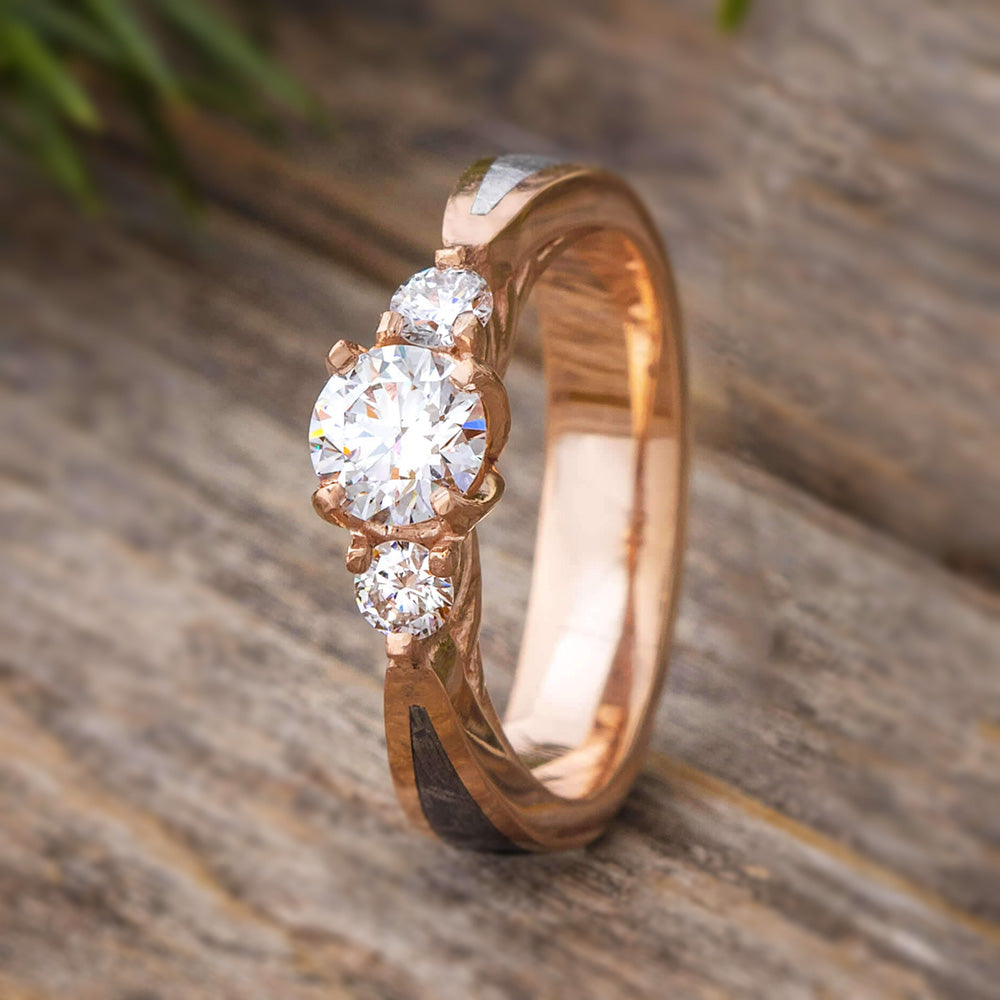 spotlight stone blog wedding three engagement rings o on