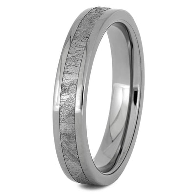 Titanium Meteorite Ring For Men