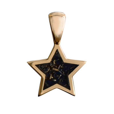 Black Stardust™ Star Pendant in 10k Yellow Gold-3519 - Jewelry by Johan