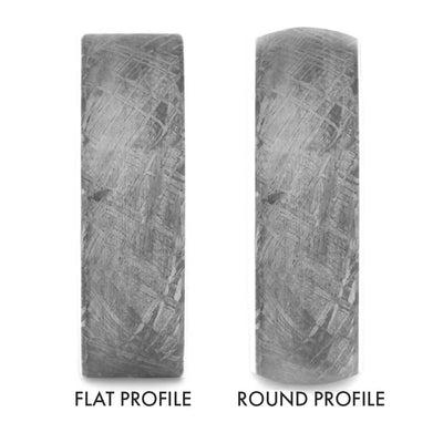 Flat vs. Round Profile 8mm Ring