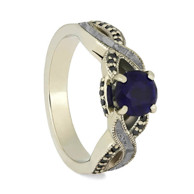 blue ring engagement barkev bands sapphire diamond s