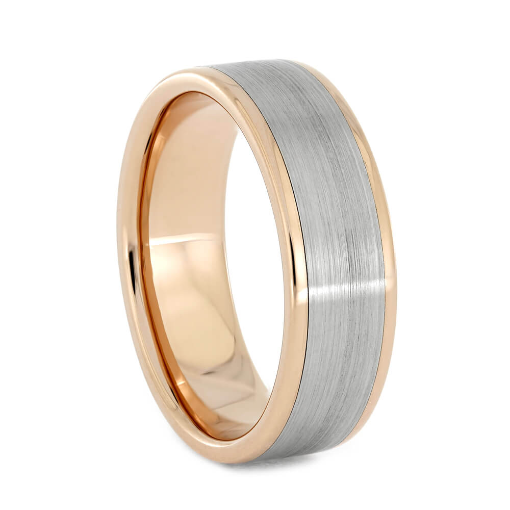 Rose Gold and White Gold Men's Wedding Band, Size 10-RS10920 - Jewelry by Johan