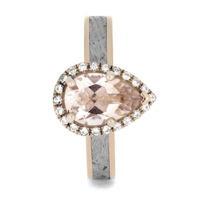 Morganite Moissanite 14k Rose Gold Meteorite_3361 (2)