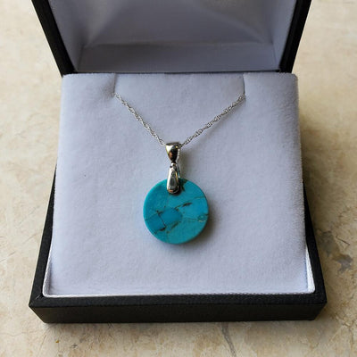 Authentic Turquoise Round Pendant