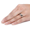 Black Diamond Engagement Ring on a Hand