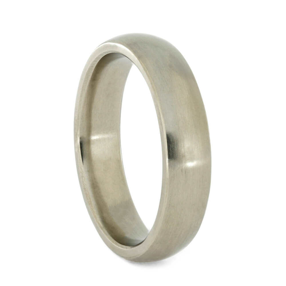 White Gold Men's Wedding Band with Matte Finish, Size 10-RS10913 - Jewelry by Johan