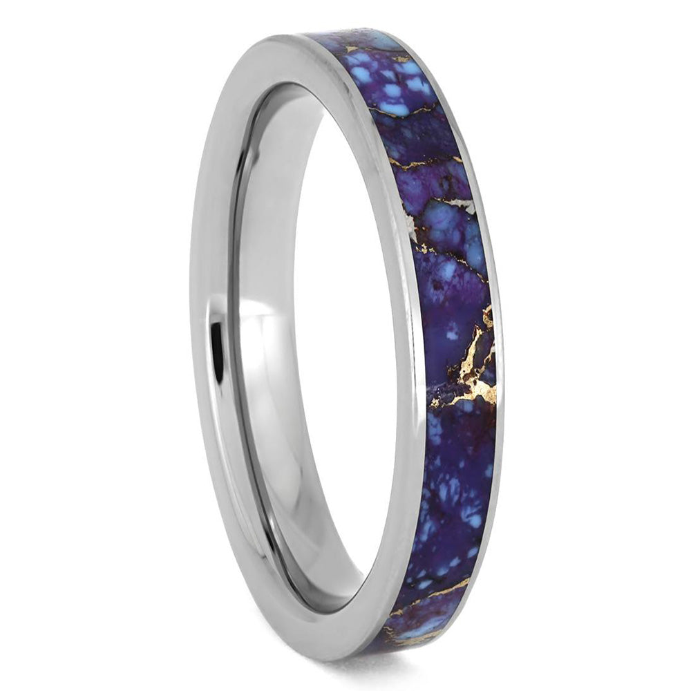 Lava Mosaic Turquoise Ring in Titanium - Jewelry by Johan