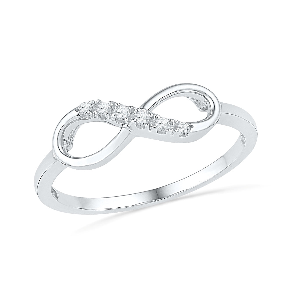 Infinity Ring With Diamond Accents, Gold or Silver-SHRF016554ATW - Jewelry by Johan