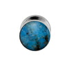 Turquoise Tie Tack With Sterling Silver, Blue Turquoise Accessory-3987