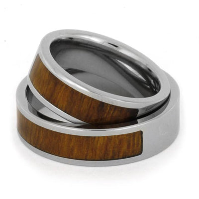 Two Partial Ironwood Inlays Titanium Set(2)