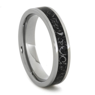 Black Stardust Ring For Men or Women in Titanium