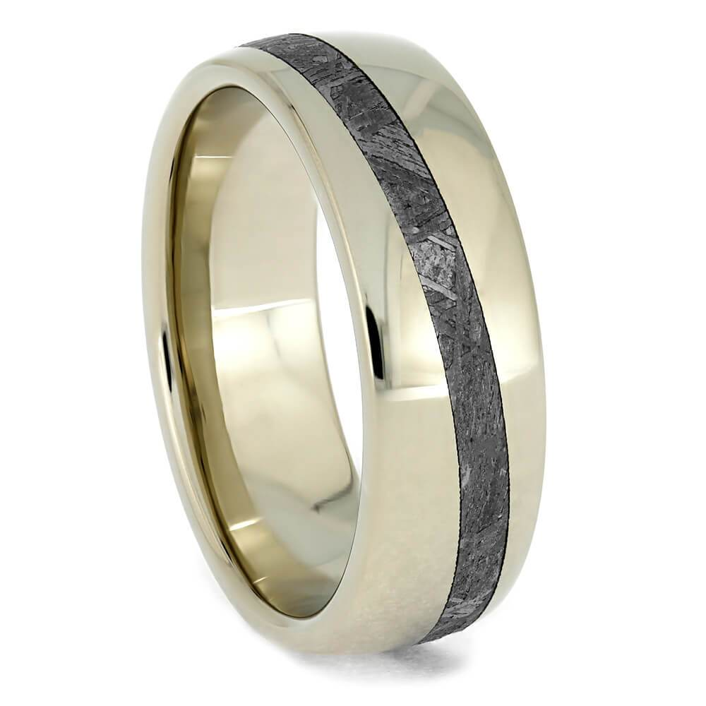 Offset Meteorite Stripe Wedding Band
