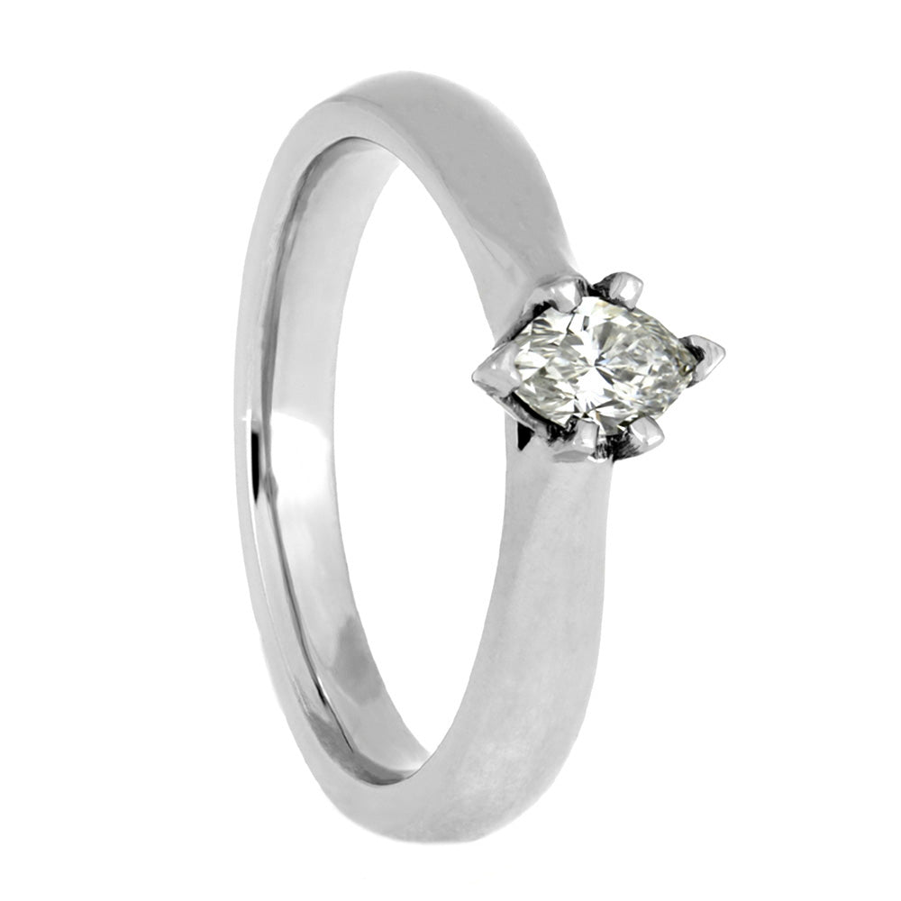 Marquise Diamond Engagement Ring in White Gold-4027 - Jewelry by Johan