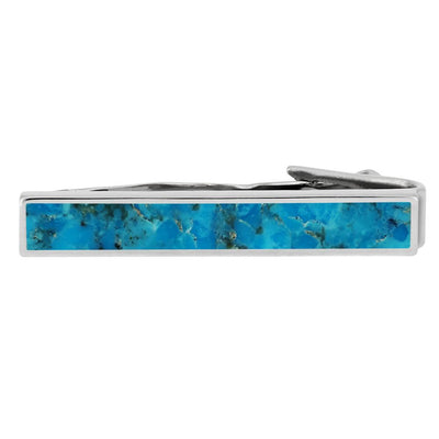 Turquoise Tie Clip in Sterling Silver-4502 - Jewelry by Johan