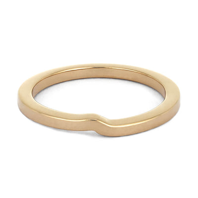 Minimalist Rose Gold Shadow Band, Customized to Match Engagement Ring-4053 - Jewelry by Johan