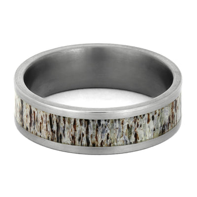 Brushed Titanium Rings