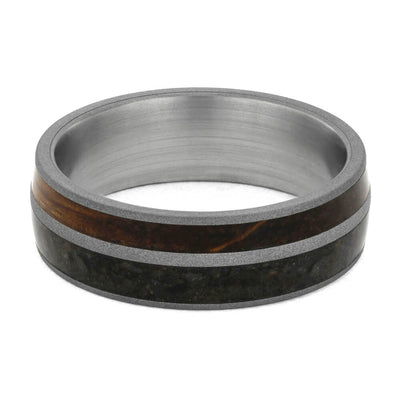 Dinosaur Bone Wedding Bands