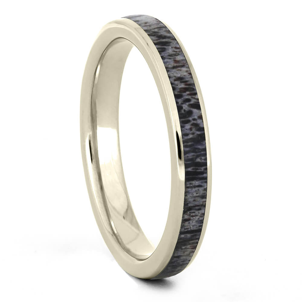 White Gold Deer Antler Wedding Band-4186WG - Jewelry by Johan