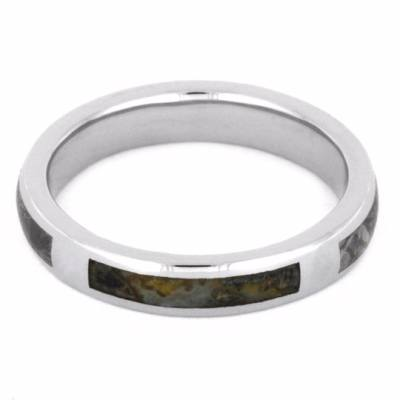 Wedding Band With Meteorite