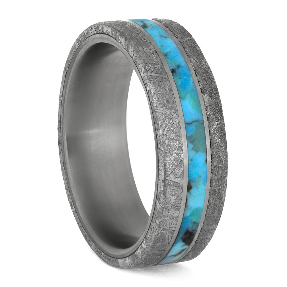 Turquoise Men's Wedding Band