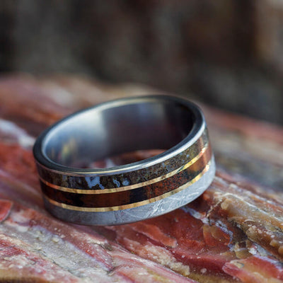 Meteorite Wedding Band For Him