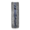 Men's Wedding Band with Meteorite and Cobaltium Mokume-4203 - Jewelry by Johan