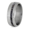 Deer Antler Men's Wedding Band In Brushed Titanium-4225 - Jewelry by Johan