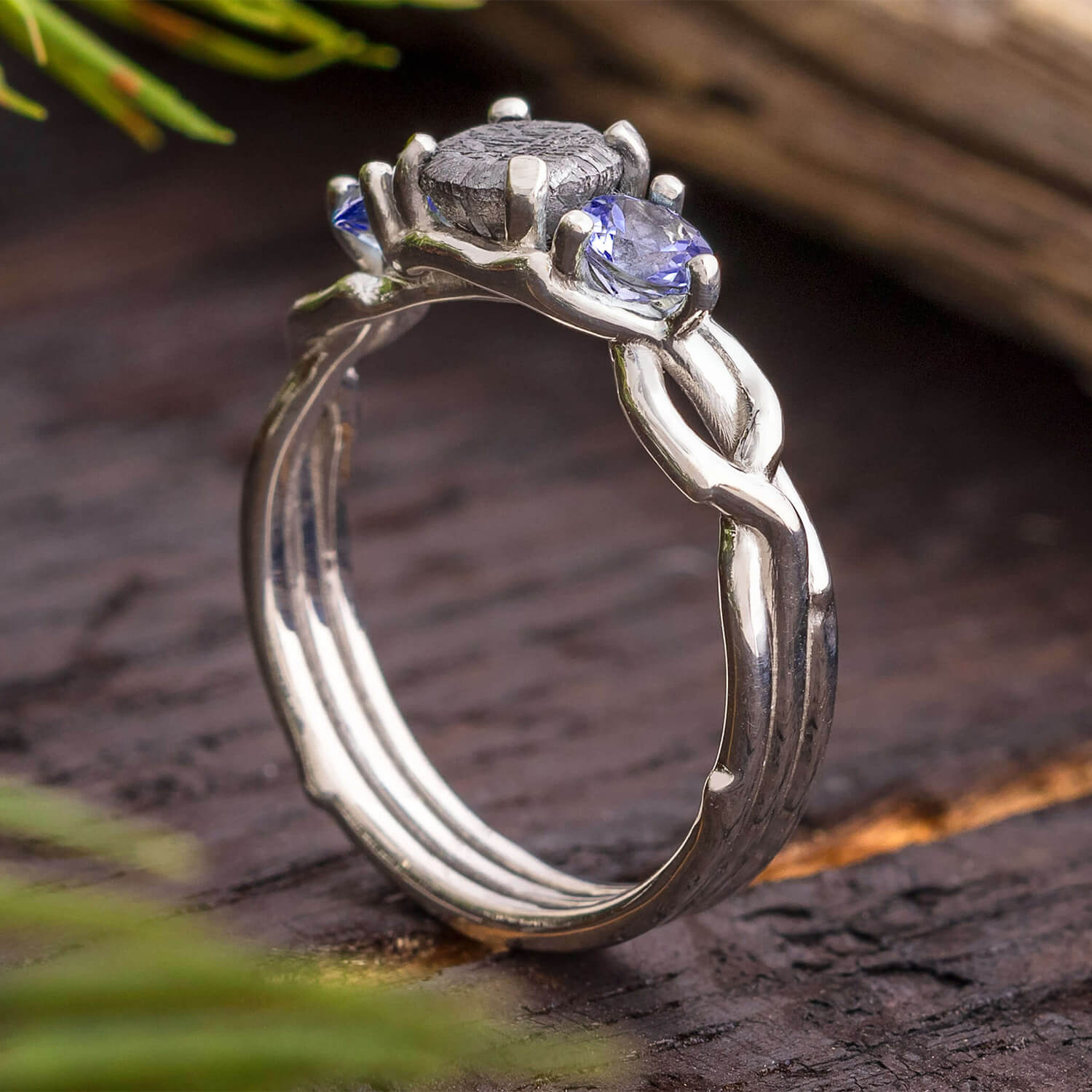 Tanzanite Ring With Meteorite Stone-SIG3049 - Jewelry by Johan
