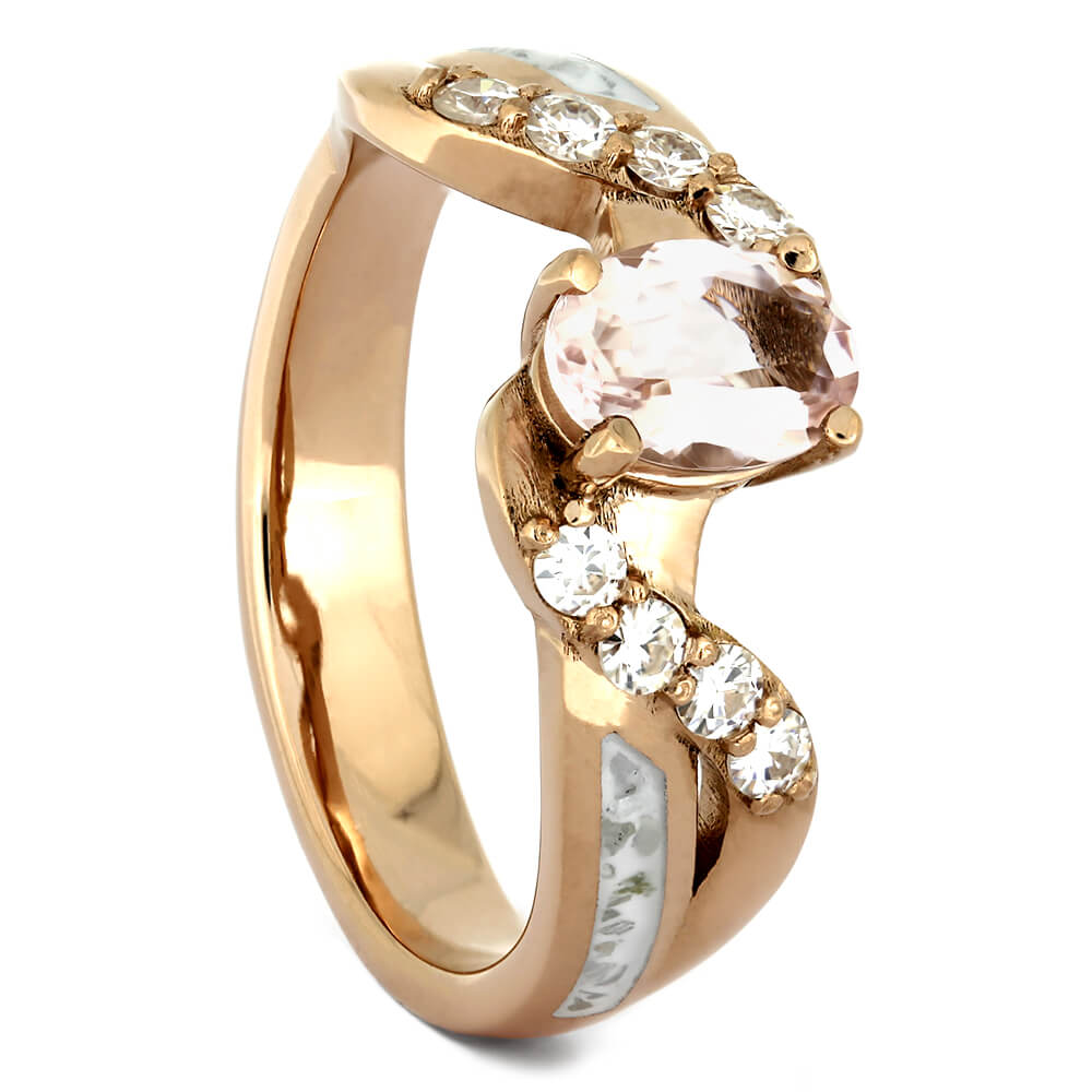 Morganite Engagement Ring in Rose Gold with Stardust™-4279 - Jewelry by Johan