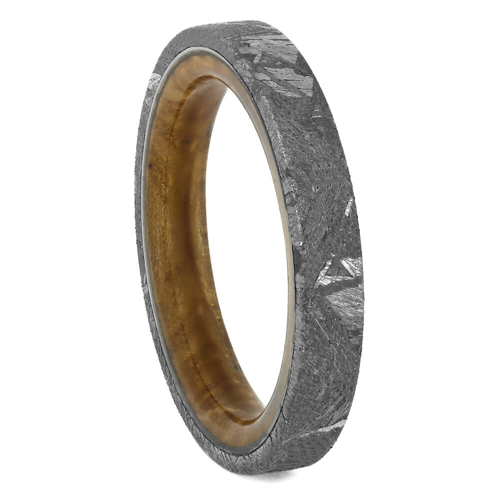 Thin Meteorite Wedding Band