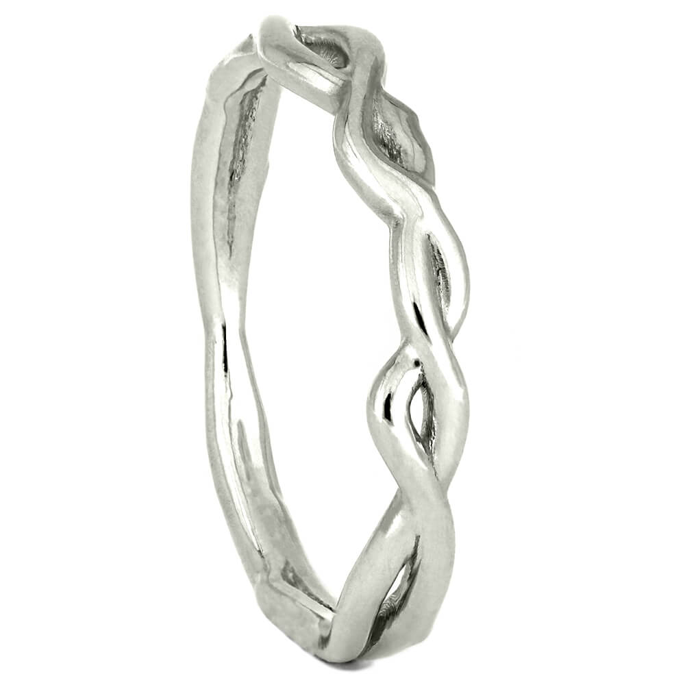 Sterling Silver Shadow Band with Branch Design-4323SV - Jewelry by Johan