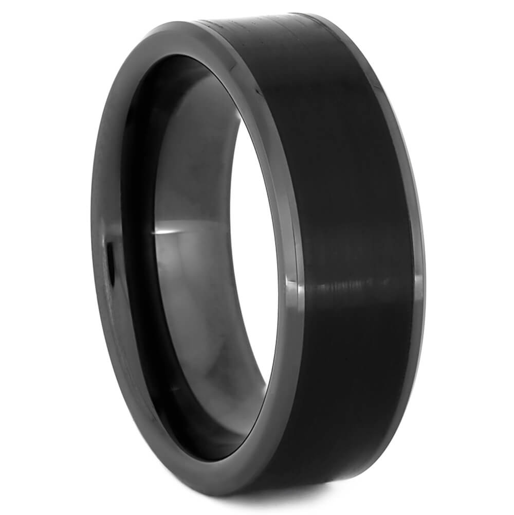 Vinyl Record Ring in Black Ceramic-4329 - Jewelry by Johan