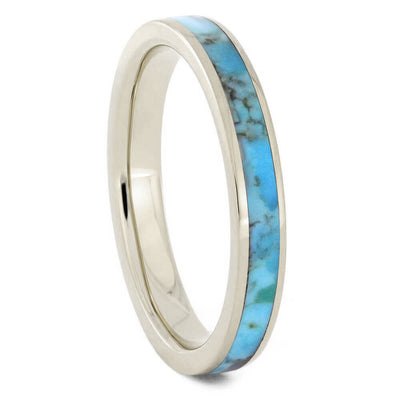 White Gold Turquoise Ring