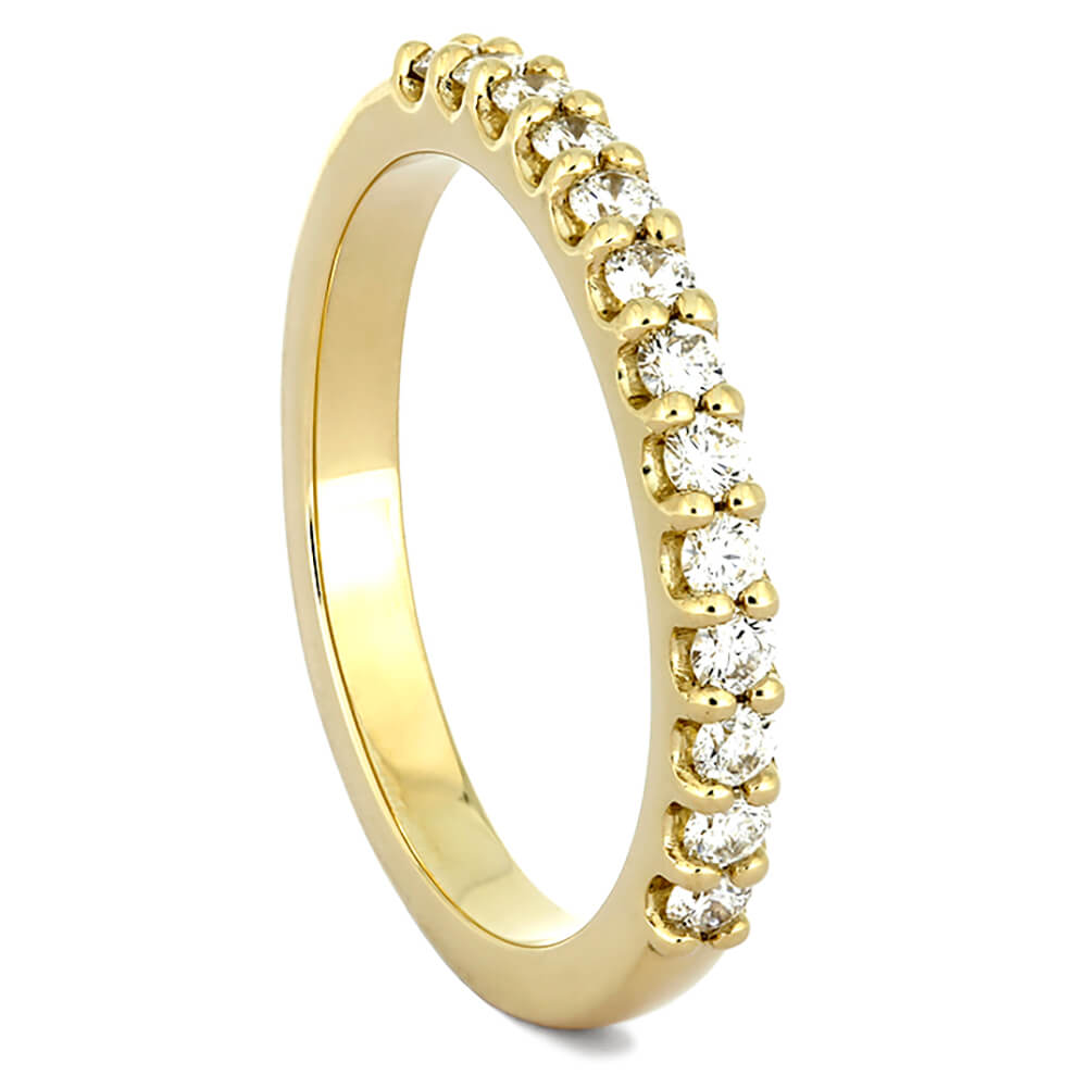 Half Eternity Diamond Wedding Band in Yellow Gold-4361YG - Jewelry by Johan