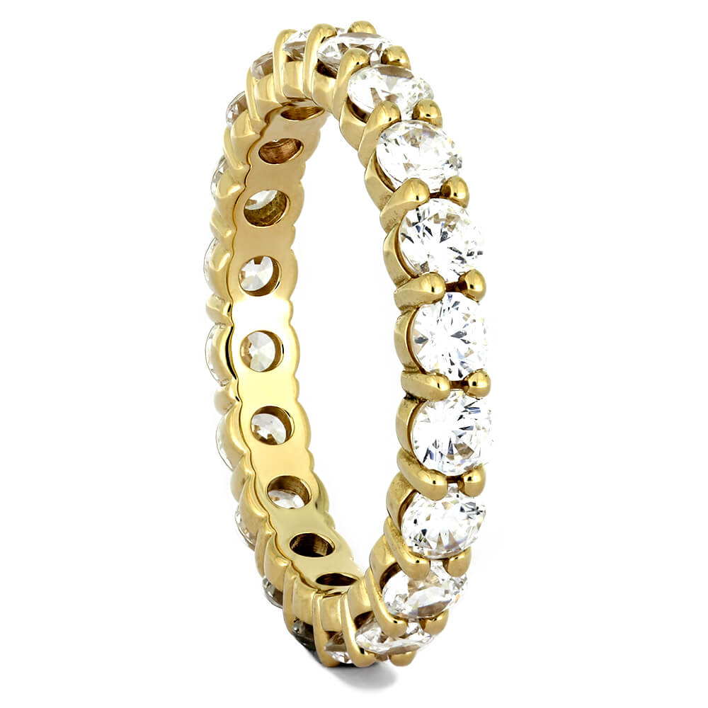 Full Eternity Diamond Wedding Band in Yellow Gold-4362YG - Jewelry by Johan
